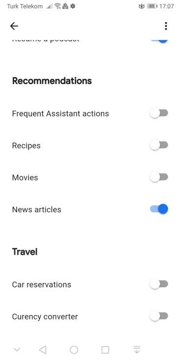 Google Asistan Snapshot