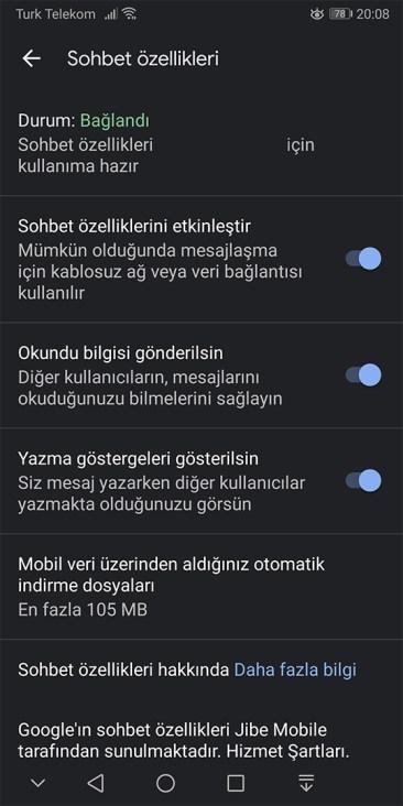 Google RCS Türkiye