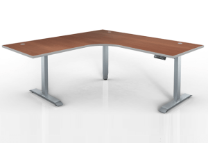 Height Adjustable Corner base Typical by Harris WorkSystems