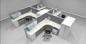 Office Furniture Rendering by Harris WorkSystems in Oregon