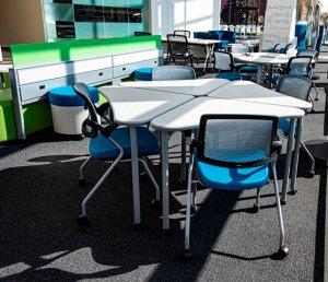 School furniture, seating and tables - photo