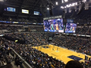The students attended the Pacers v. Celtics game on one of the nights at Indianapolis. Credit: Anusha Mathur '20 / SPECTRUM