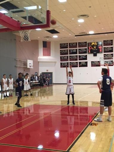 Jonathan Nehorai '22 shoots a free throw. Credit: Lauren Nehorai '20/SPECTRUM