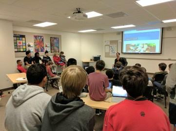 Alumni Josh Glazer, speaks to programming classes Credit: Tammer Bagdasarian '20/SPECTRUM