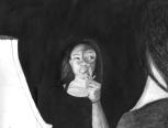 """""""Self Portrait"""" by Kayeln Bower '19"""