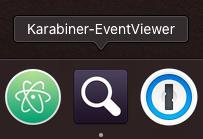 Karabiner-EventViewerというアプリケーションを開きます