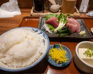 生バチマグロ刺身定食1,000円