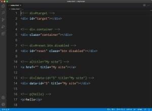 Visual Studio Code:Emmet記法によるidやclassまたはその他属性の指定方法