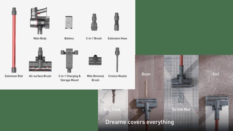 Accessoires de l'aspirateur