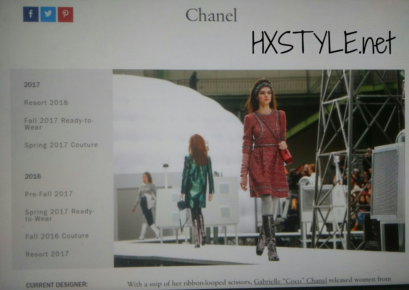 VOGUE NEWS&TRENDS. SPRING TOP 3, 2. CHANEL SPRING&FALL 24.5.2017, RESORT 2018 Collections