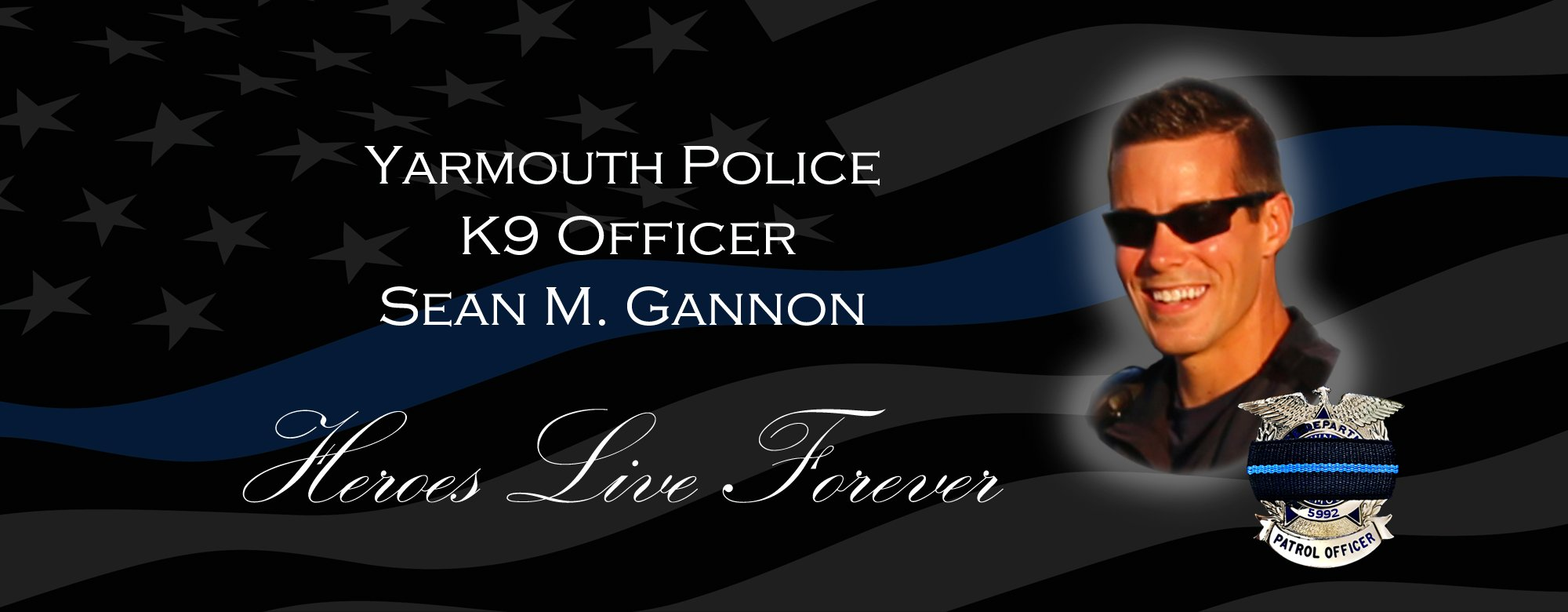 YARMOUTH POLICE SERGEANT SEAN M  GANNON: K9 Officer Promoted