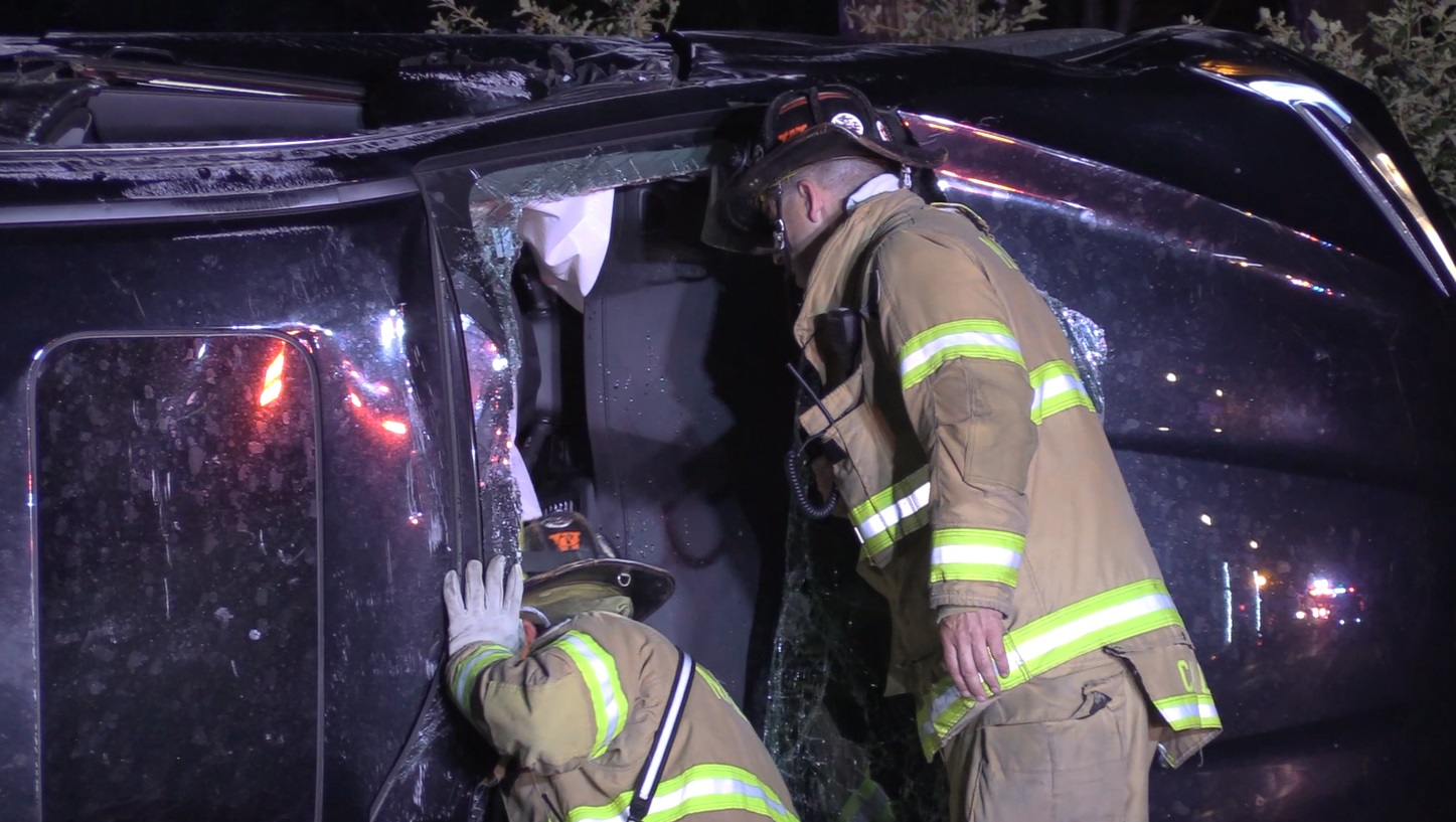 Mashpee Firefighters rescue entrapped woman from single car rollover