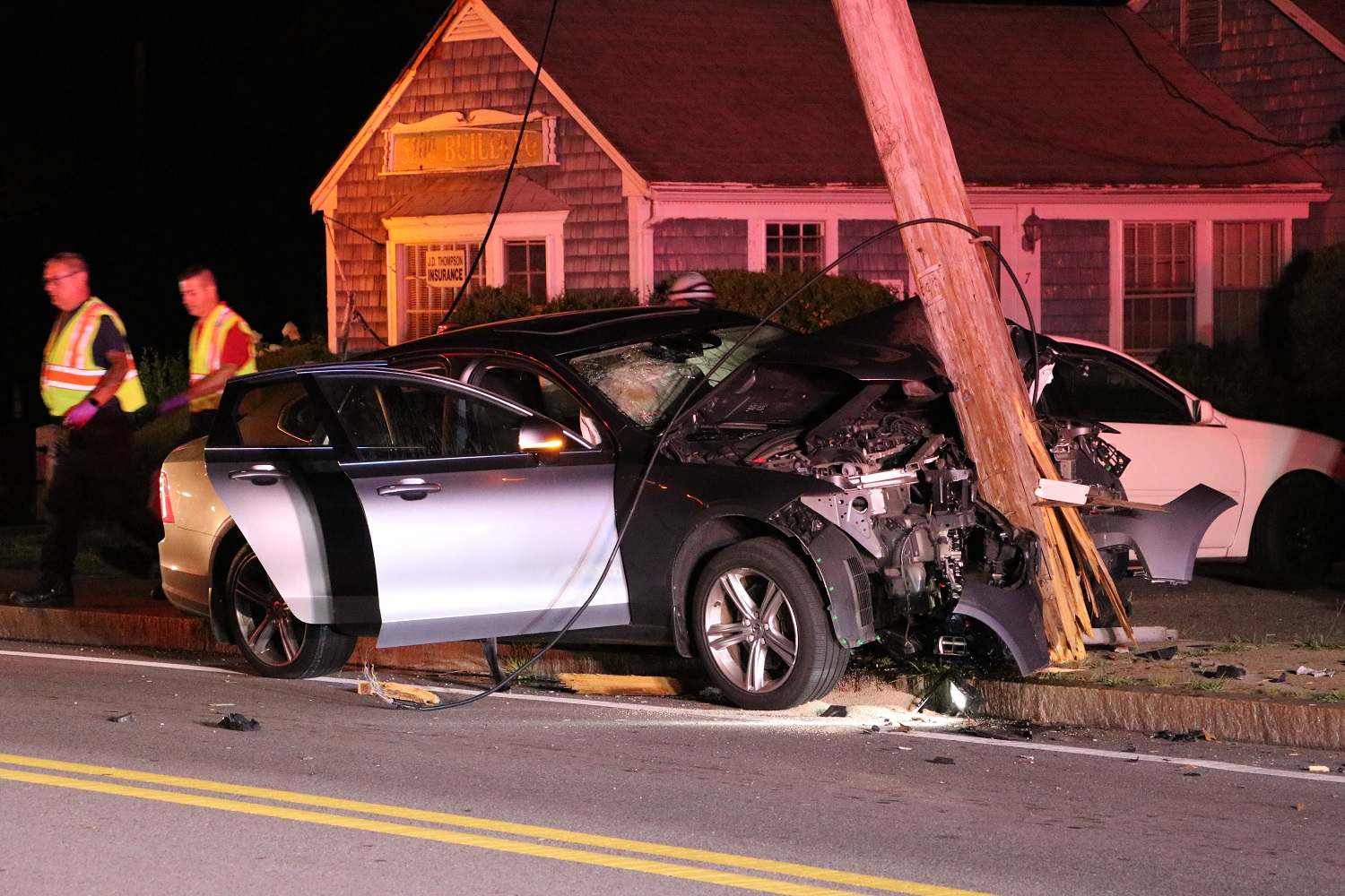 YARMOUTH CRASH: Route 28 closed after vehicle destroys utility pole