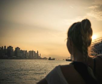 Západ slnka pri prístave