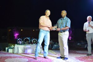 Stan Reid Cobb Vice President  Presents Top Awards To Aaron Banda