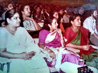 At a concert (my mother to the right)