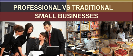 professional-vs-traditional-small business