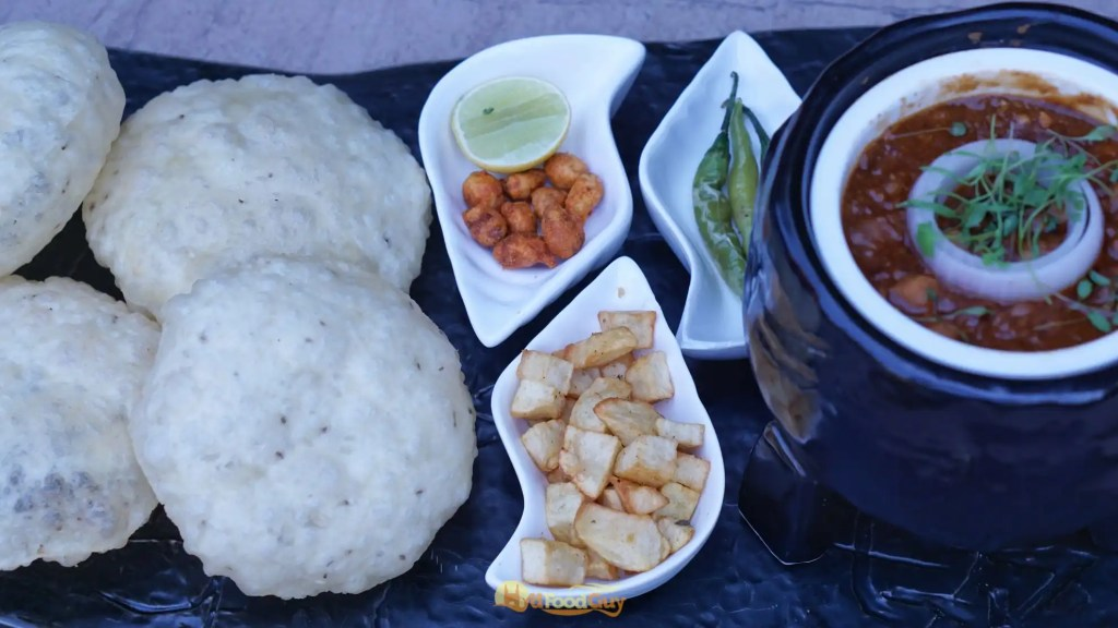 Matka Cholle with Lucchi Puff - Farzi Cafe