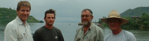 Hydragas develops Clean Energy: The pilot testing team after a day on the lake Dec 2003