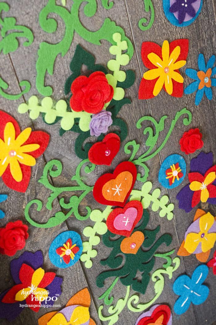 Embroidered Felt Flowers KUNIN Rainbow Eco-Fi JPriest