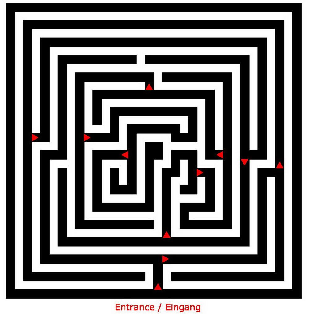 Corn maze outlines