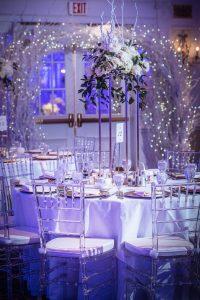flocked wedding archs