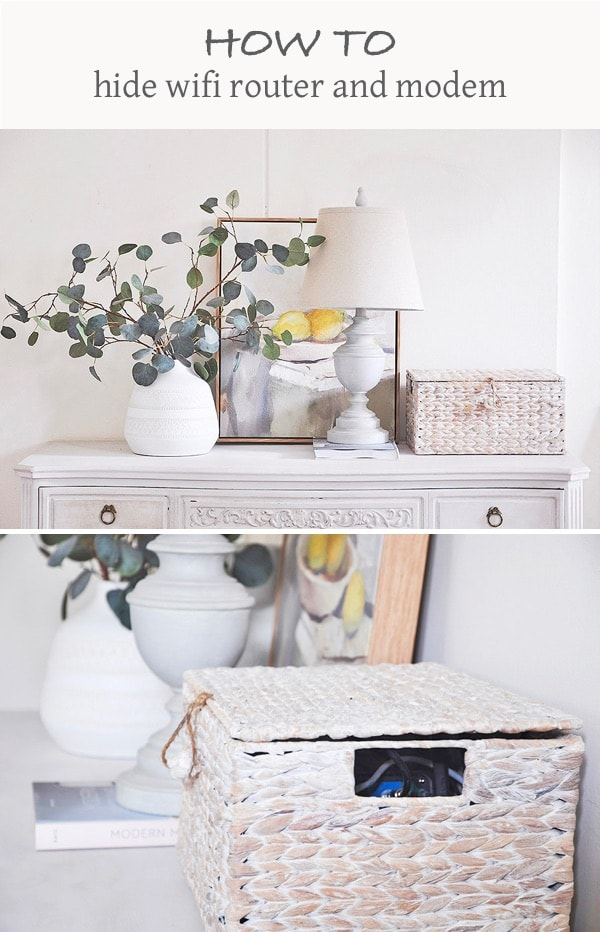 How to Hide Modem and Router in A Stylish Way - hydrangea treehouse