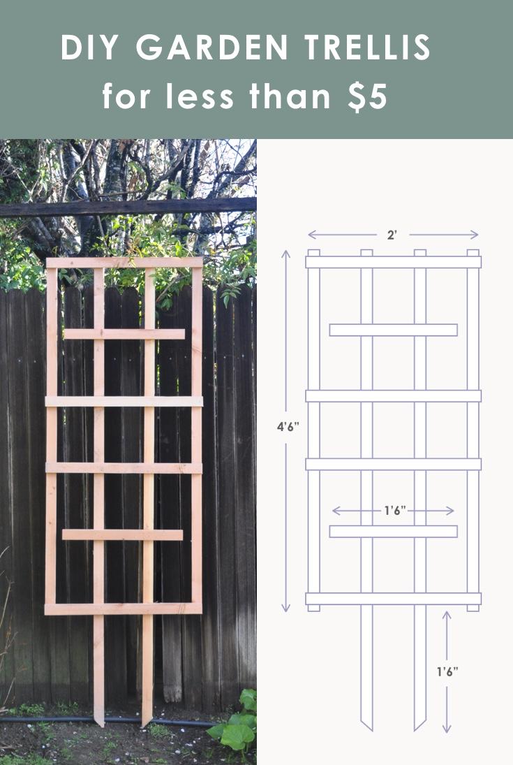 Easy Diy Trellis Tutorial For Your Garden For Less Than 5