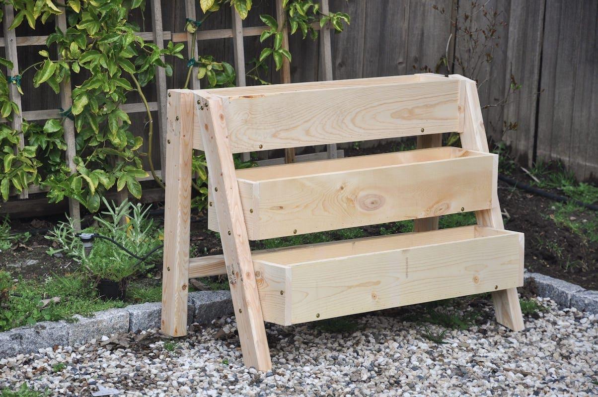 Diy Tiered Strawberry Planter | Vertical Garden Ideas - Hydrangea Treehouse Diyoutdoor - Gardening