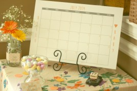 shower game calendar