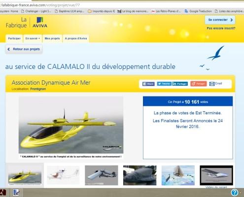 10161 votes au concours CALAMALO aviva