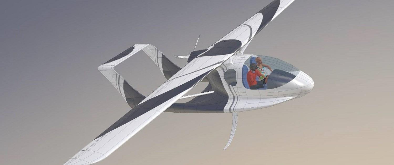 hydravion amphibie à foils rétractables Morgann by CALAMALO Aviation en vol