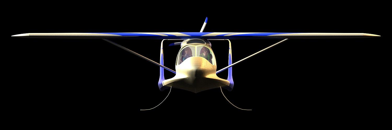 hydravion amphibie à foils rétractables Morgann de CALAMALO Aviation vue de face