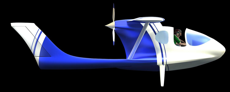 hydravion amphibie à foils rétractables Morgann de CALAMALO Aviation verrière_pickup