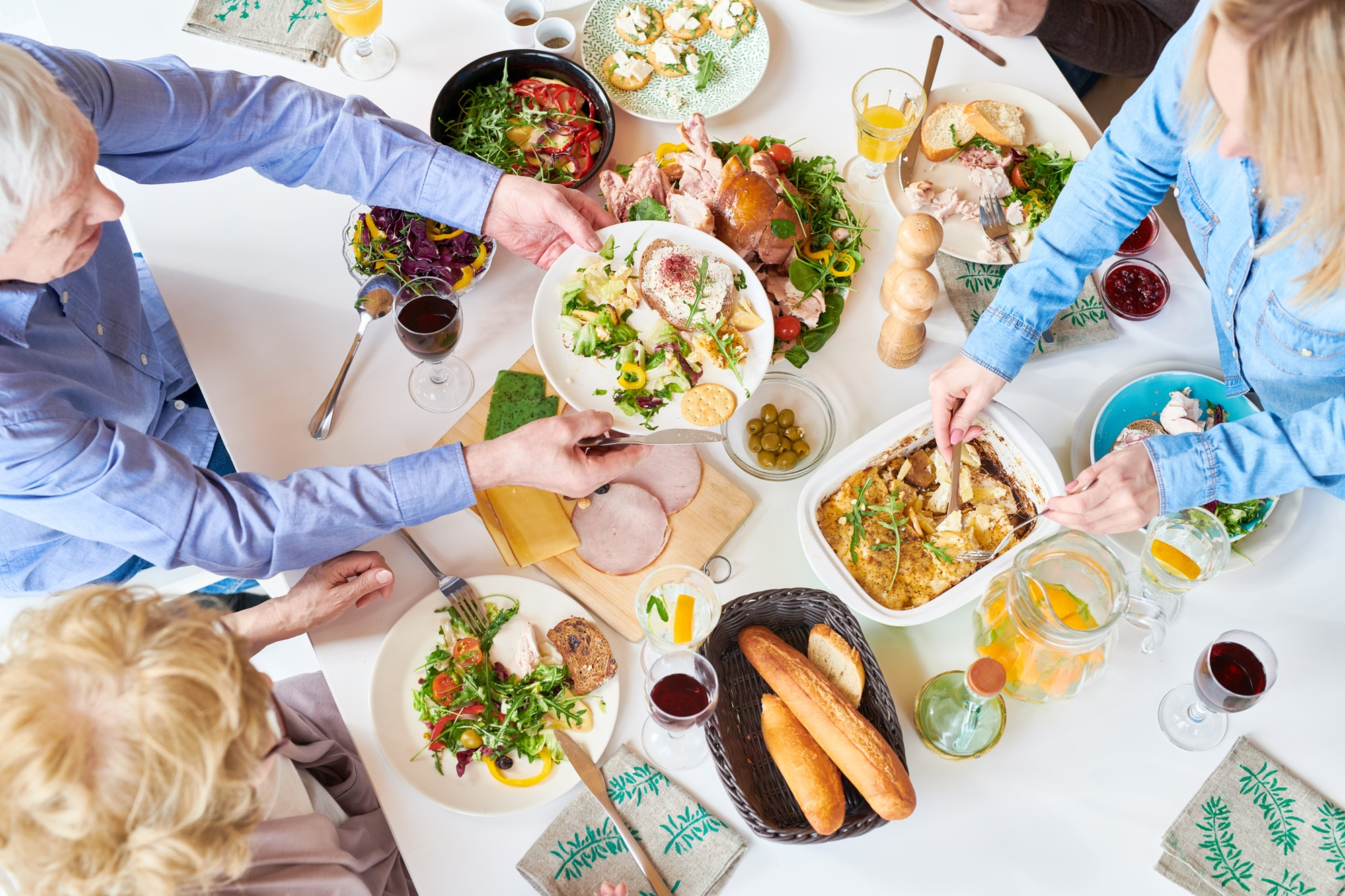 Happy Family Eating Dinner