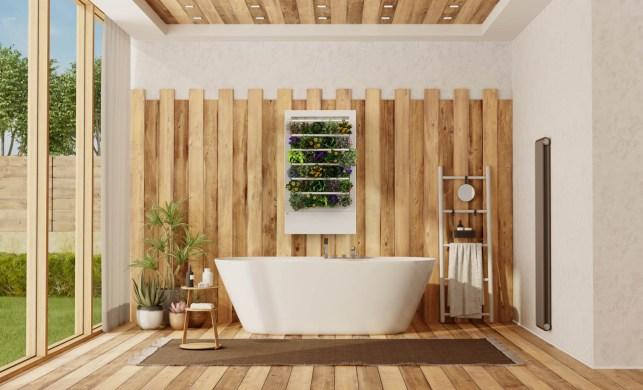 Smart Indoor Garden in Bathroom