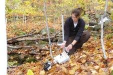 Maggie Zimmer sampling wells.