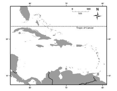 Caribbean island biogeography