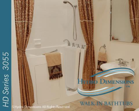 walk in tubs hydro dimensions 888