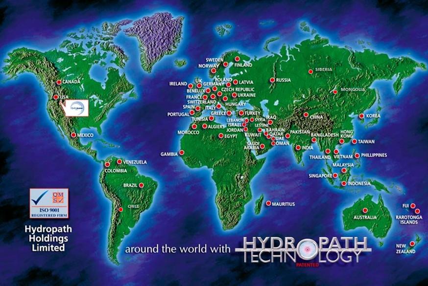 La technologie HydroPATH Dans le monde