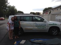 denise with hydrogen car