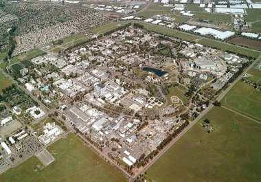 Aerial View of Campus - Hydrogen vans