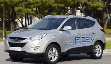 Hyundai's 2011 Tucson ix FCEV Hydrogen Fuel Cell Car