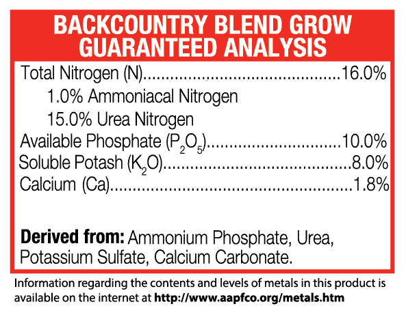 Green-Planet-Nutrients+Backcountry-Grow+guaranteed analysis+Base-Nutrients+Plant-Nutrients