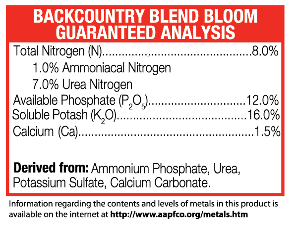 Green-Planet-Nutrients+Backcountry-Bloom+guaranteed analysis+Base-Nutrients+Plant-Nutrients