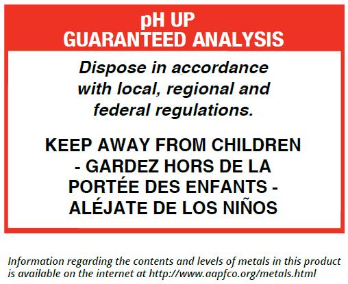 pH Up Guaranteed Analysis