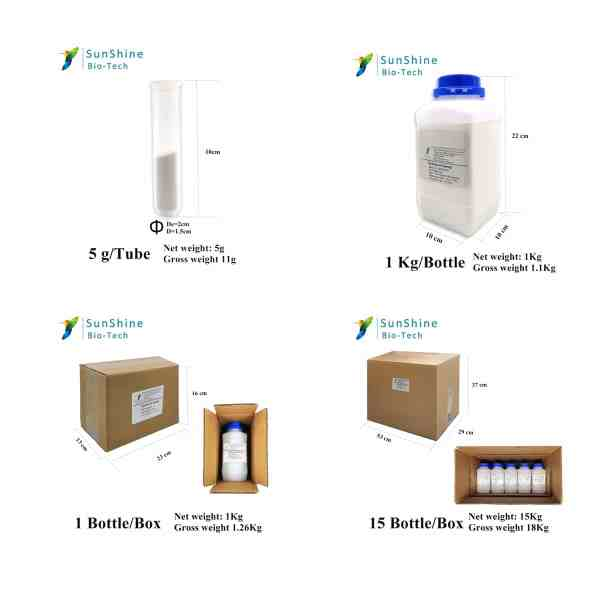 SQT® professional spongilla spicule powder the size of package box for delivery