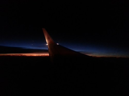 Waking up in the South American sky