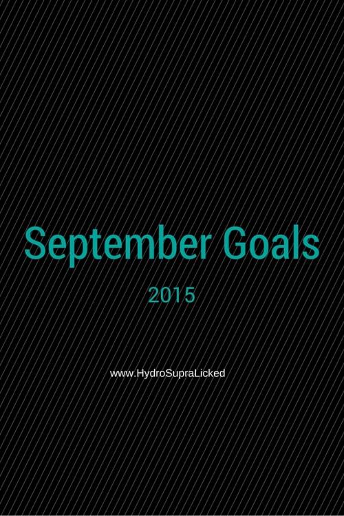 2015 September Goals