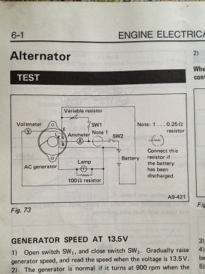 1985 Subaru GL wagon Alternator Wiring Diagram  Old Gen